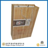 Wood Texture Surface Paper Carry Bag