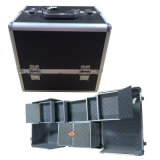 Professional Aluminium Cosmetic Case with Many Extensible Trays