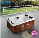 2.1 Meters Cloud White Acrylic Outdoor Rectangle Hot Tubs