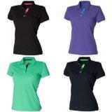 Ladies Slim Fit Contrast 65/35 Polo Shirt (A459)