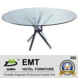 Futuramic Hotel Furniture Restaurant Furniture Glass Dining Table (EMT-FT608)