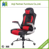 High Back Office Furniture Red Leather Ergonomic Chair (Agnes)