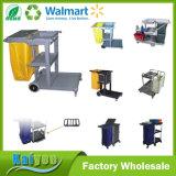 Hotel Housekeeping Plastic Multi-Functional Plastic Cleaning Trolley Janitor Cart