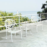Top Quality New Design White Color Cast Aluminum Dining Set Using in Outdoor Garden (YT915)