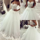 Lace Bridal Ball Gown Beaded Tulle Sweetheart Wedding Dresses Dz2017