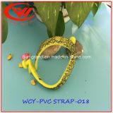 Fashion Glitter PVC Strap for Slippers Making