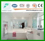 modern Style of Clear Silver Mirror for Bathroom Custome Size Avilable
