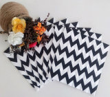 Black Chevron Paper Dinner Napkin