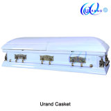 White High Gloss Velvet Last Supper and Pieta Casket and Coffin