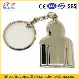 Custom Pure Metal Key Ring Chain with a Man Logo