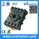 General Purpose Round Type DIN Rail Mouting Electric Plastic Relay Socket with CE