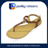 Factory Export Sandal to India Fashion Ladies Flat Sandal