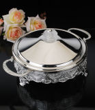 Silver Plated Baker with Glass (AG33022DL)