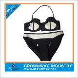 Black Triangle Bikini Style Waterproof Neoprene Swimwear for Hot Girl