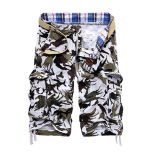 Customize High Quality Pure Cotton Fashion Cargo Short for Men