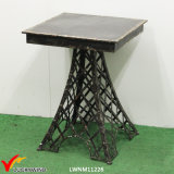 Eiffel Tower Metal Square Antique Black Side Table