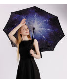 Creative Double Layer with C Handle Inside out Reverse Windproof Umbrella