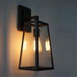 Glass Iron Edison Retro Wall Lamp