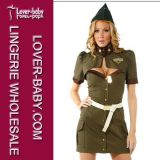 Military Cap Uniform Halloween Sexy Army Costume (L1141)