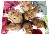 """Aluminum Square Plate Photos for Children Smile 11.75 """"× 11.75"""""""