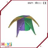 Factory Direct Sale Glow Colorful Glitter Mardi Gras Hat