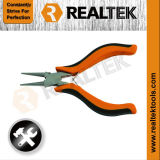 Nickel-Planted Mini Round Nose Pliers with Bi-Color Plastic Handles