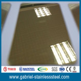 Mirror Polished Titanium Coated 0.8mm Stainless Steel Sheet 304