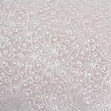 White Warp Knitting Elegant Customized Lace Fabric for Clothing