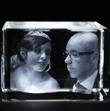 3D Laser Engraving Crystal Blank Engraved Cube for Decoration