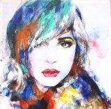 Fashion Beauty Girl Canvas Handmade Oil Painting for Wall Arts