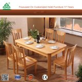 Sturdy Wood Frame Wooden Modern Dining Table Chairs