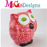 Wholesale New Arrival Decal Owl Bank Ceramics Saving Box