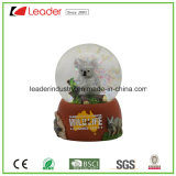 New Polyresin Craft, Customized Resin Koala Snow Globe with Glitter Inside, 65mm for Souvenir Gift