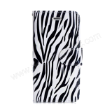 iPhone 7 Zebra Pattern Wallet Credit Card Protector Leather Cover