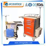 Five Drawers Medication Emergency Hospital Trolleys Hospital Cart
