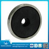 Permanent Disc Ferrite Pot Magnet Hooks