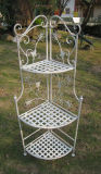 3-Tier Wrought Iron Conner Rack for Garden