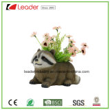 Hot-Sale Resin Raccoon Statue Flower Pot for Home and Garden Decoration
