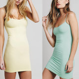 Fashion Women Leisure Sexy Slim Knitting Backless Slip Dress