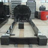 Shanxi Black Granite Tombstone with Kerbs for European Market