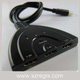 HDMI 3 Into 1 Switch Video Splitter Hub