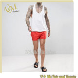 100% Polyester Fashion Red Shorts for Men Swim Short Pants