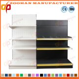 Single Sided Metal Back Holes Supermarket Display Shelf Shelving (Zhs47)