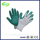 10'' Full Dipped Knitted Wrist and Interlock Liner Nitrile Gloves