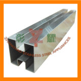 Stainless Steel Fencing Pipes with Double Slot Square Shape