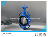 CF8 Disc Resilient Seat Lever Cast Steel Wafer Butterfly Valve