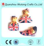 Custom Cheap Europe Style London Mark Cute Teddy Bear Resin Fridge Magnets