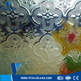 Clear Flora Patterned Glass with CE&ISO9001