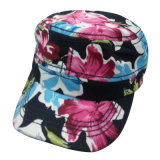 Hot Sale Army Cap with Floral Fabric Mt09