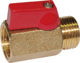Brass Mini Valve with Red Handle (a. 0129)